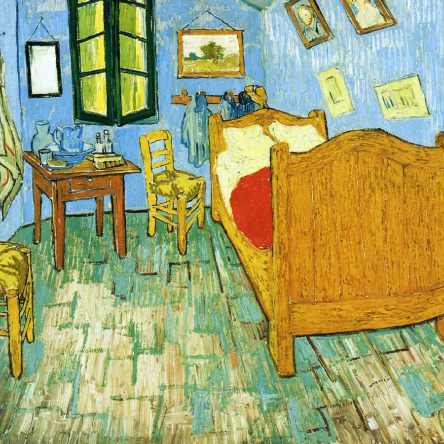 Vincent van Gogh,   The Bedroom,  1889 // February 2017