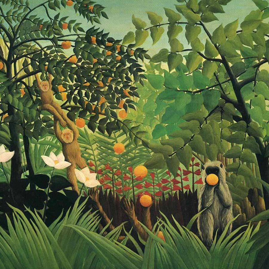 Henri Rousseau,   Exotic Landscape,  1910 // August 2017