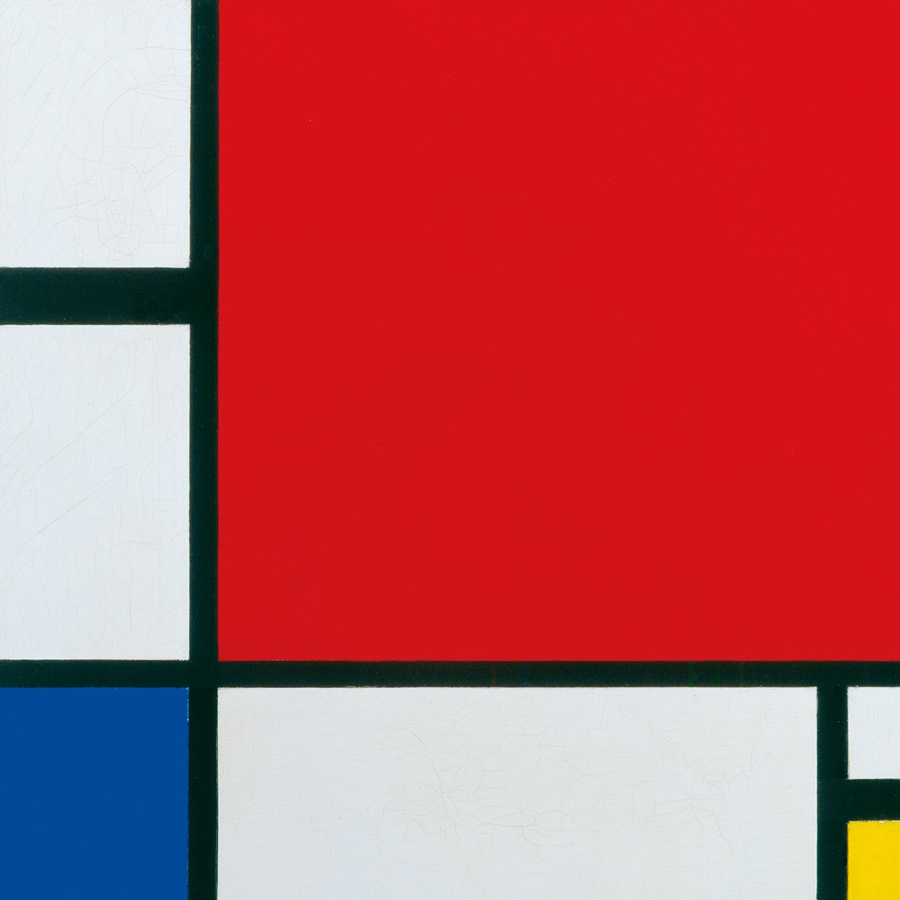 Piet Mondrian,   Composition II in Red, Blue, and Yellow,  1930 //May 2017