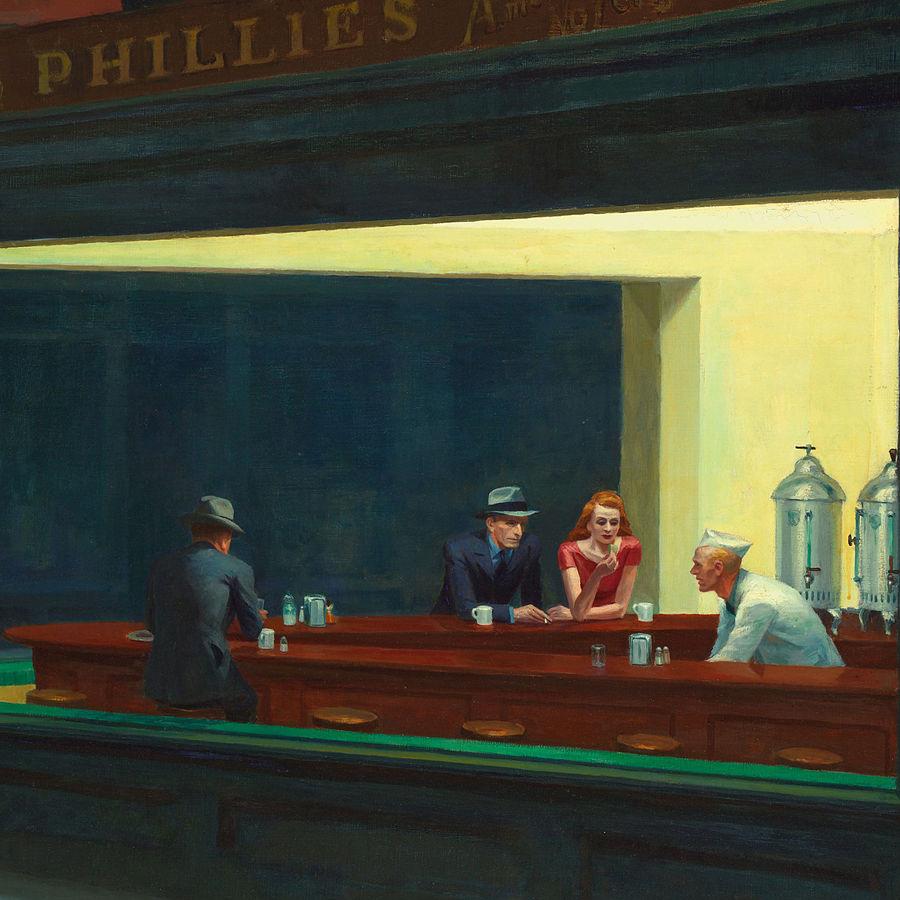 Edward Hopper,   Nighthawks,  1942 // October 2017