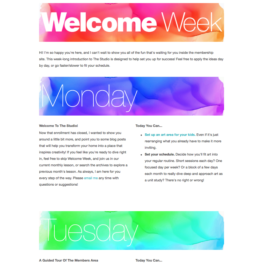 Welcome Week! A guided tour showing you around the members site. -