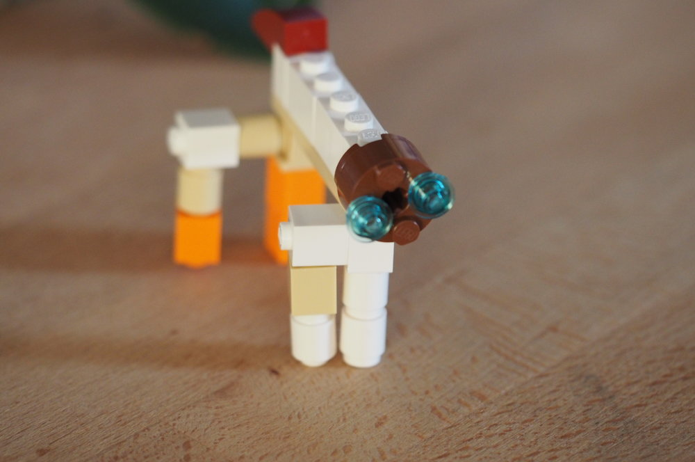Jael, age 6 (LEGO sculpture of her dog)