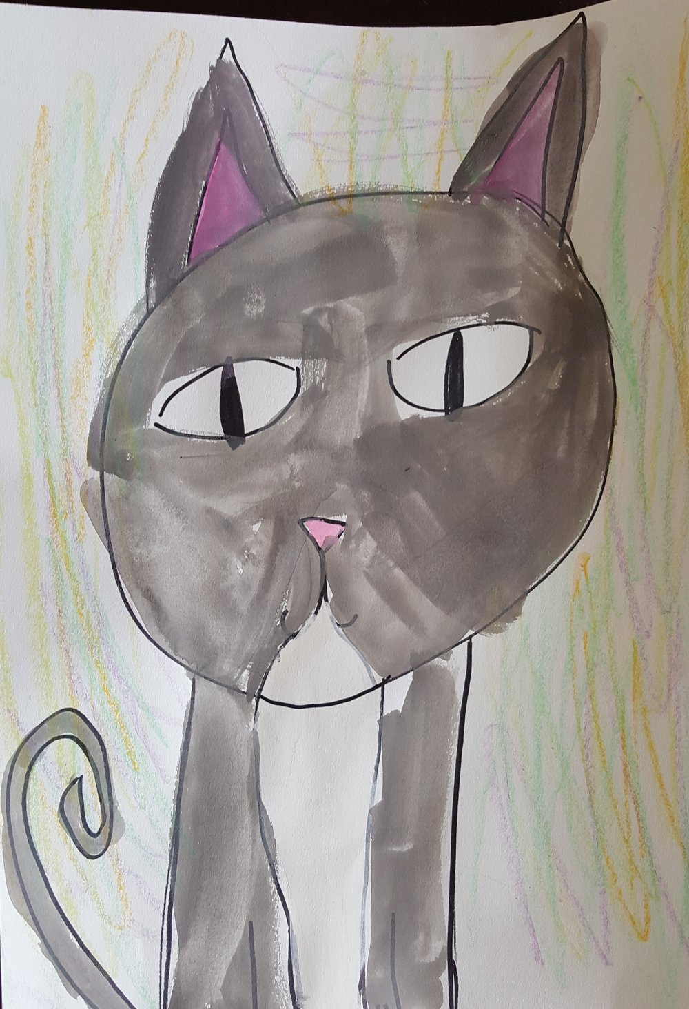Eden, age 8 (painting of her kitten Nosy)
