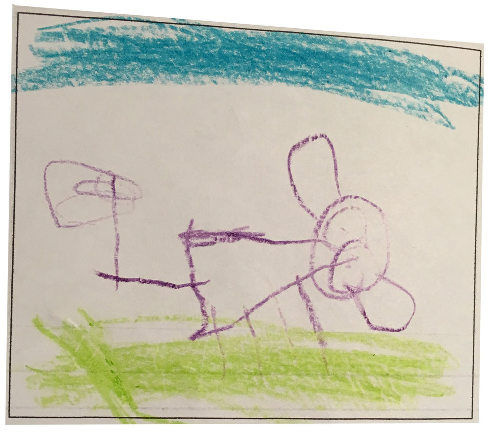 This is from Aoife (age 4). She gave her puppy, Artemis, a valentine and she wagged her tail.