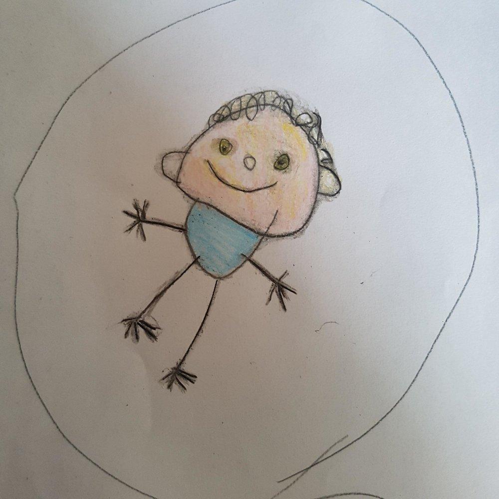 Anna, age 4.75  // Leonardo sfumato portrait
