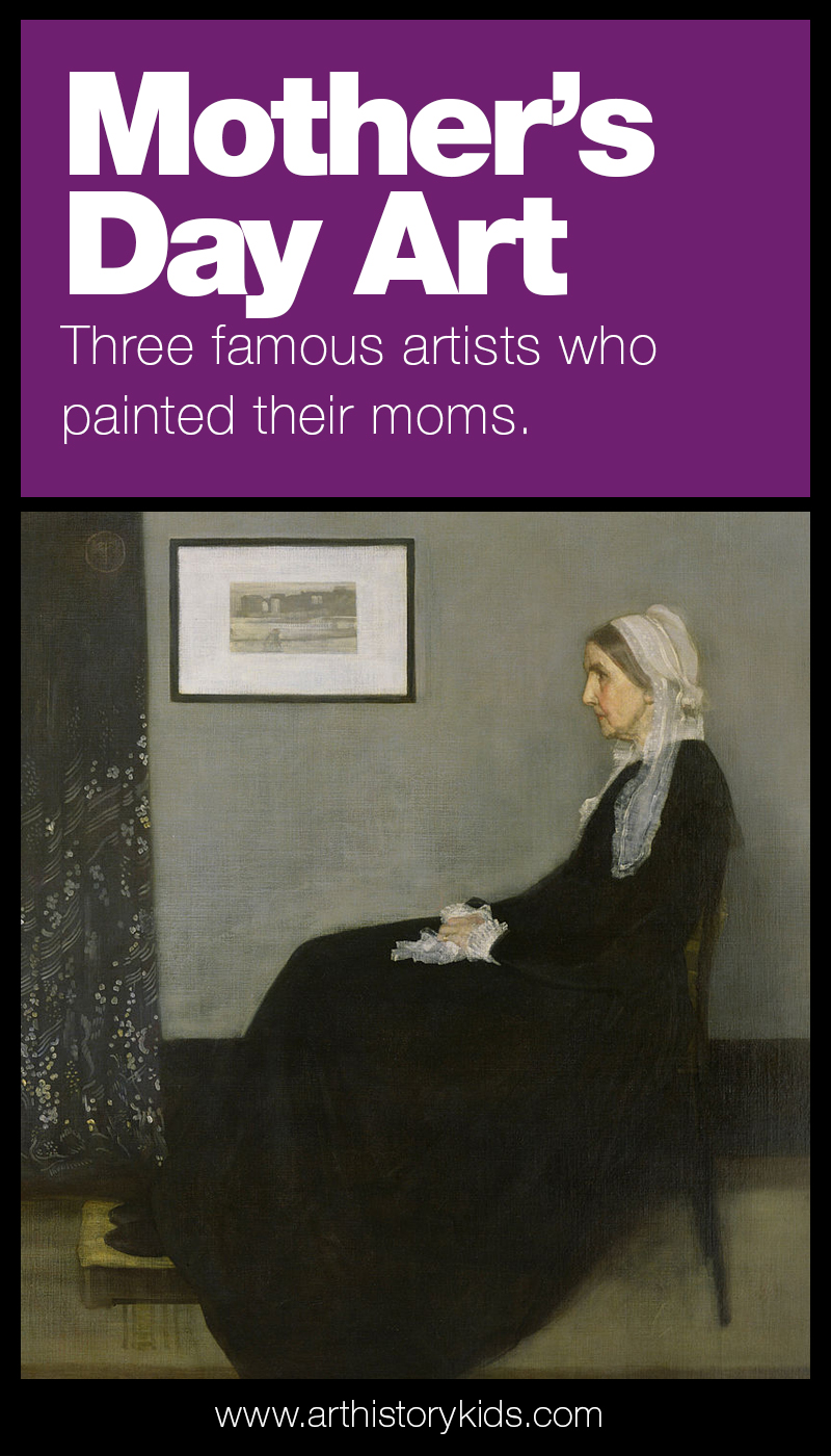 Mother's Day Art History – Learn about three famous artists who painted their moms. Art history for kids. Famous Artist Study.
