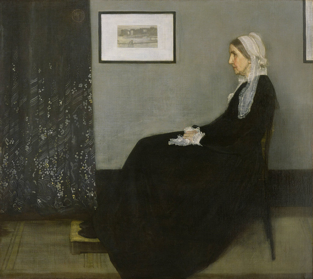 James Abbott McNeill Whistler,   Arrangement in Grey and Black No. 1  ( Whistler's Mother), 1871