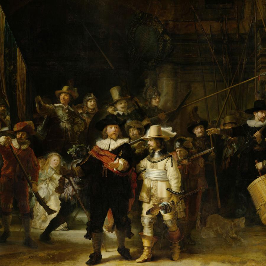 Rembrandt van Rijn,   The Night Watch,  1642 //February 2018