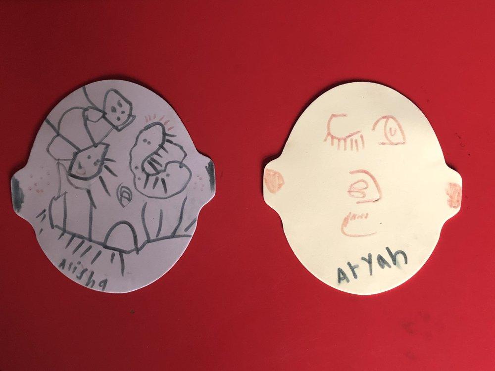 Aryan (age 5) and Alisha (age 3)
