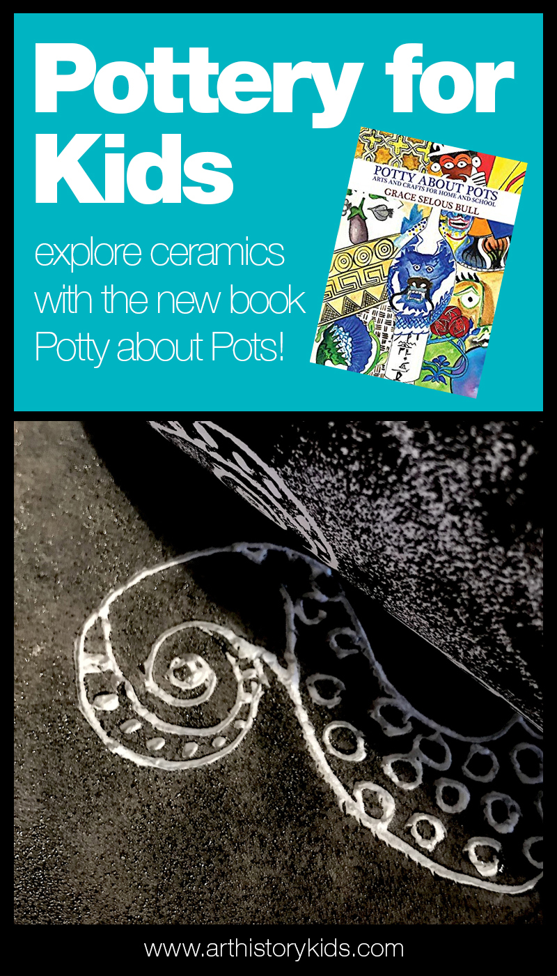 Pottery and ceramics lessons for kids. Homeschool art activities for kids.