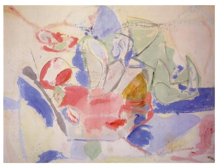 Helen Frankenthaler,  Mountains and Sea,  1952. ©Helen Frankenthaler Foundation/Artists Rights Society (ARS), New York.
