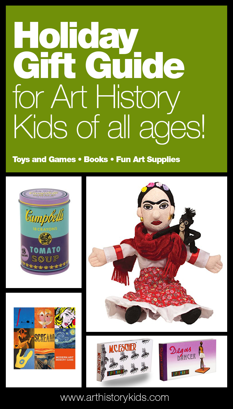 Holiday gift guide for kids who love art. Explore art games and toys, art history storybooks, and fun art supplies