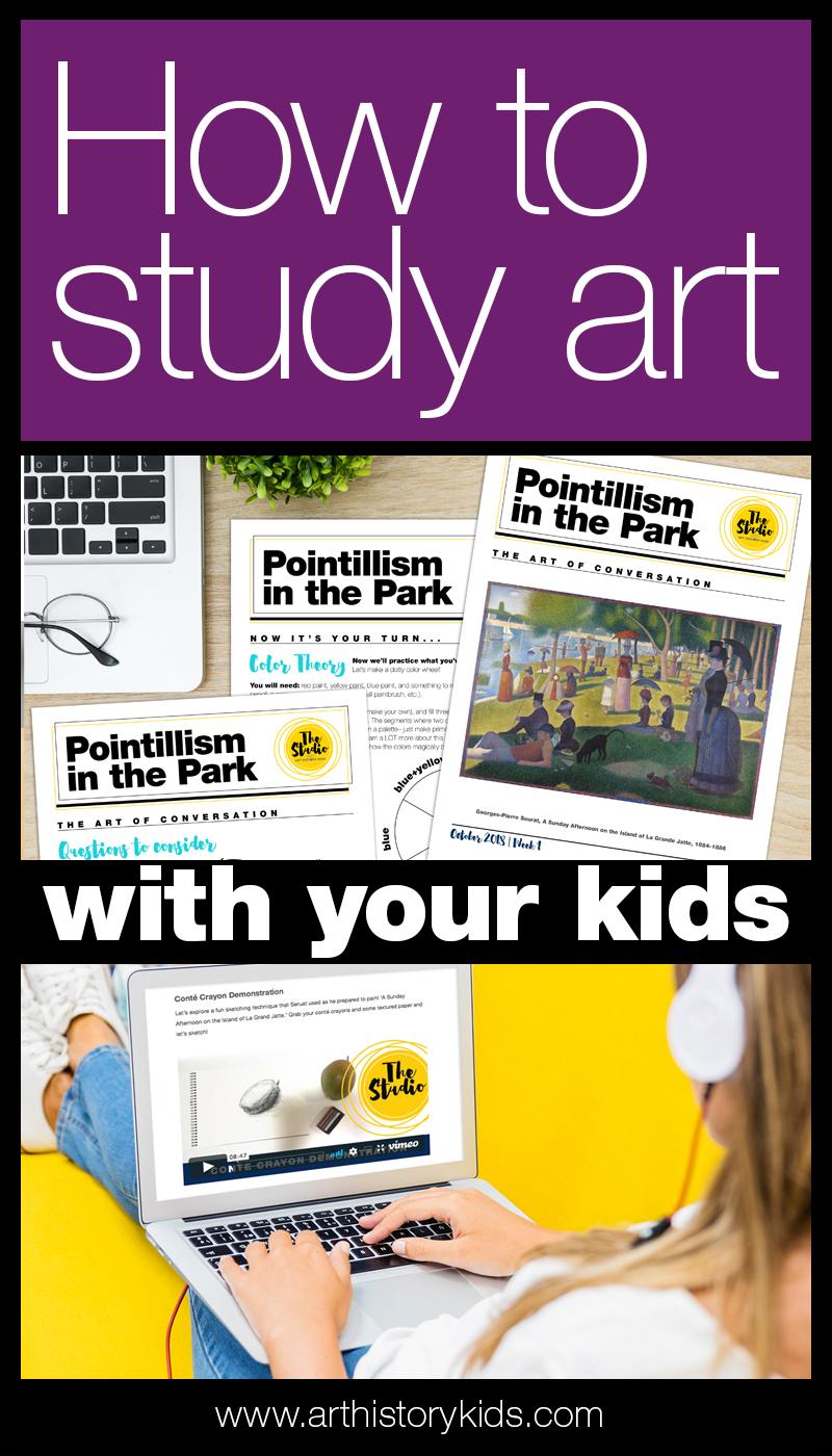 Homeschool art curriculum that incorporates art appreciation, art history, and hands on art activities!