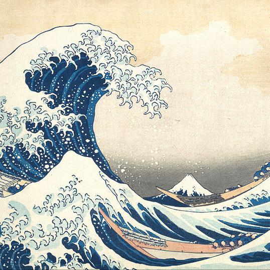 Katsushika Hokusai,   The Great Wave,  1830-1833 // August 2018