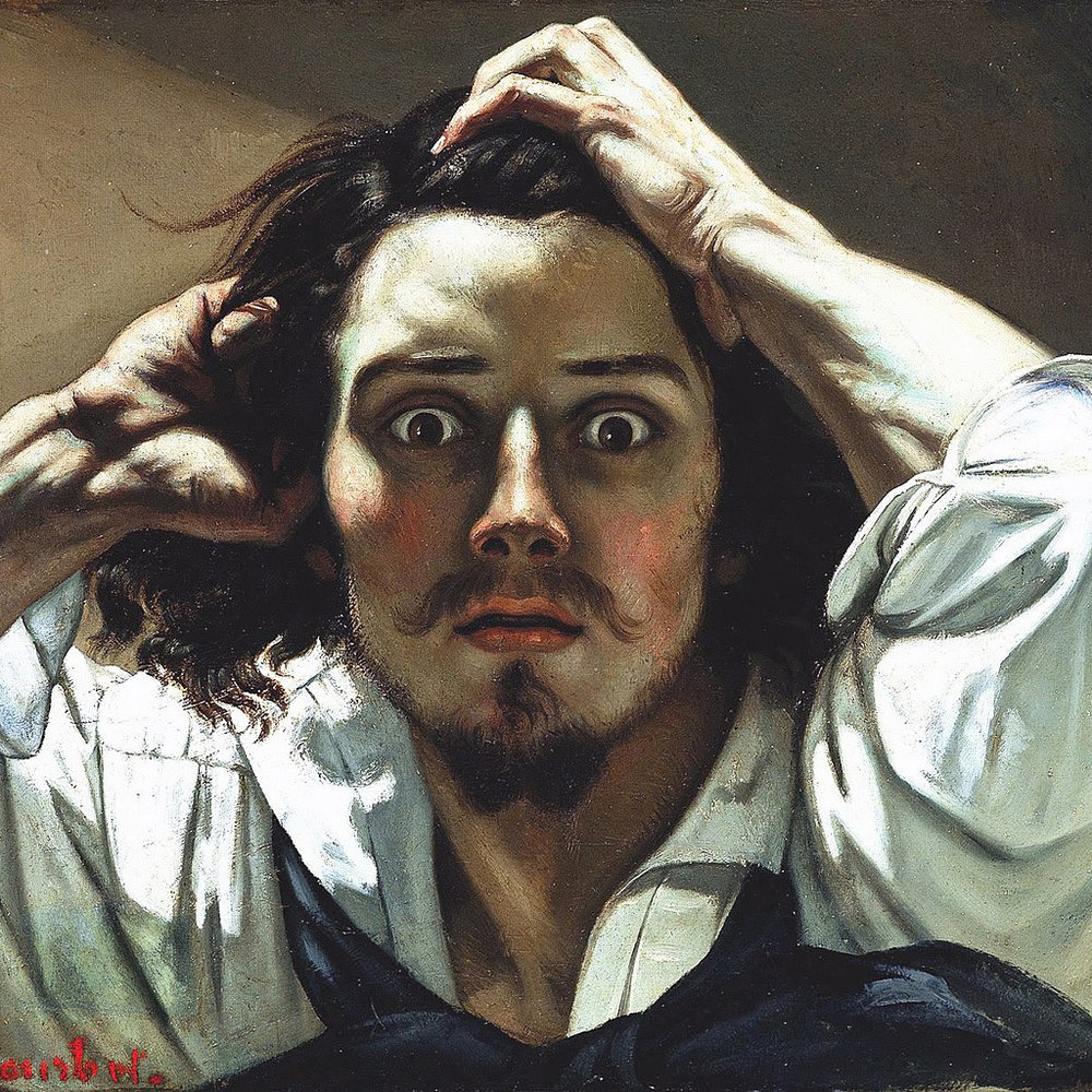 Gustave Courbet,   The Desperate Man,  1843-1845 // July 2018
