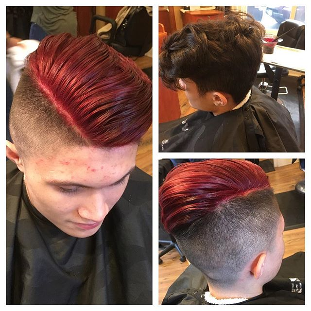 Before and after . A little bit of red by Tiffany