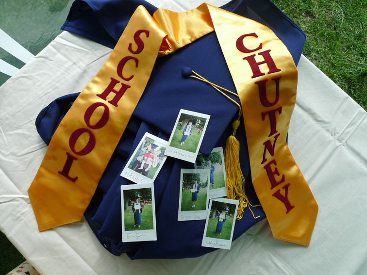 Chutney 5 - chutney school graduation gown.JPG