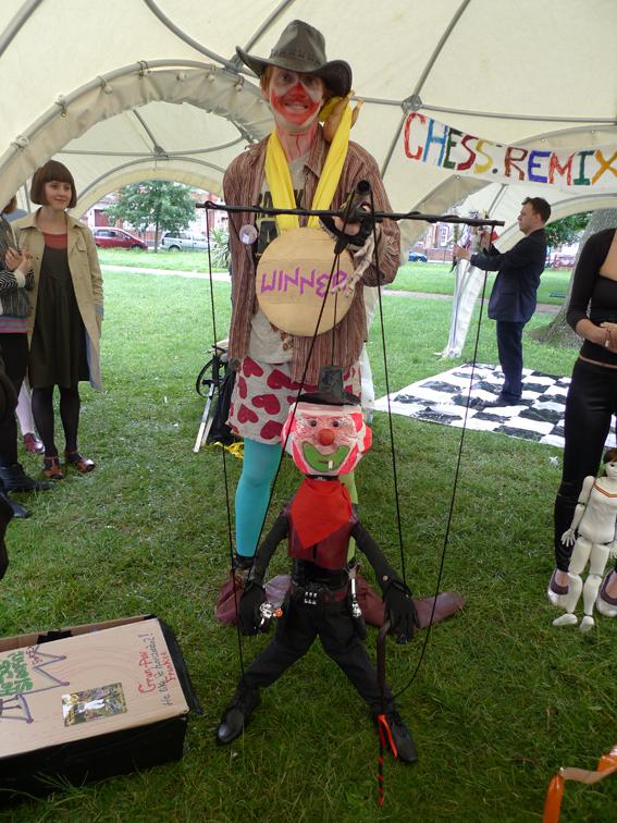 chutney 6 - puppet winner at puppet olympics.JPG
