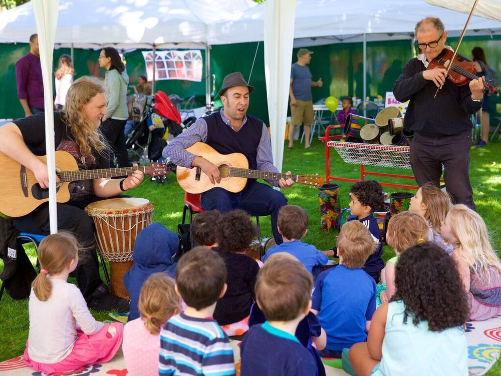 Three Singing and Music making workshps  with Camberwell Choir School at the ArtsFest on Saturday 23 June on Camberwell Green.  FREE  10.15 - 11am  for 0-3 year olds  11am - 12 noon for 4 - 6 year olds  12 noon - 1pm for 7 - 10 year olds