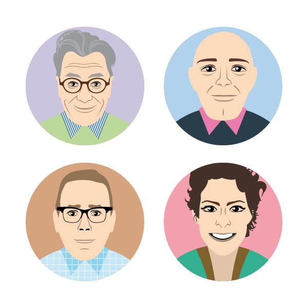 Richard Rau, Alfredo Schilirò, Rachel Schilirò,Oliver Rau (Im Uhrzeigersinn)