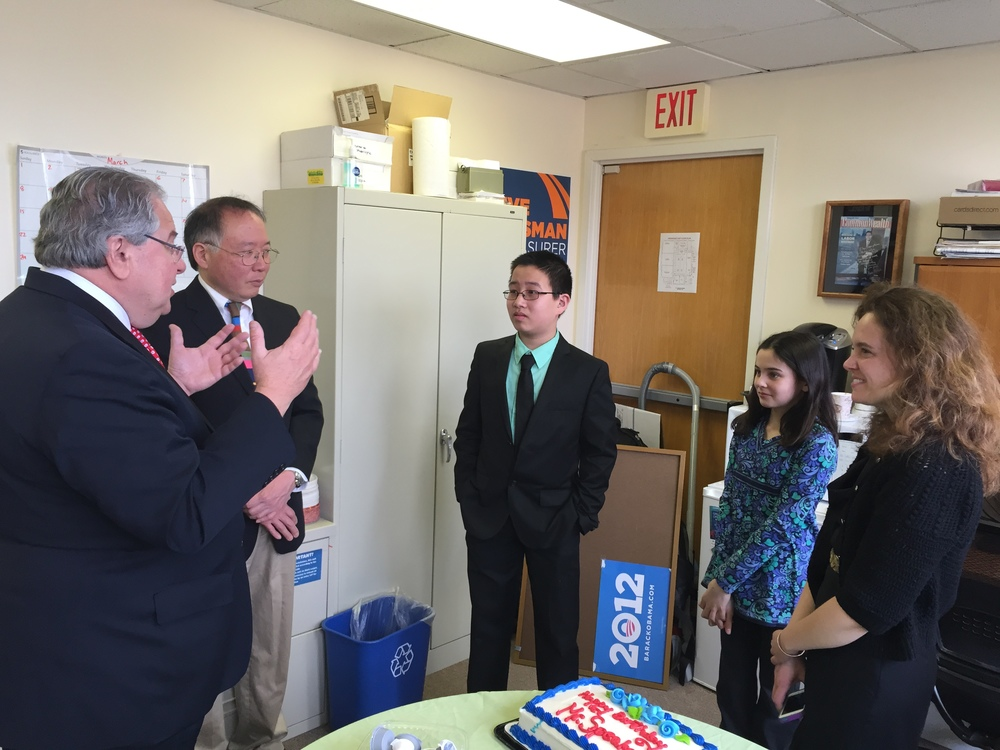 Speaker DeLeo talks to Massachusetts' youngest advocates about the issue of youth homelessness