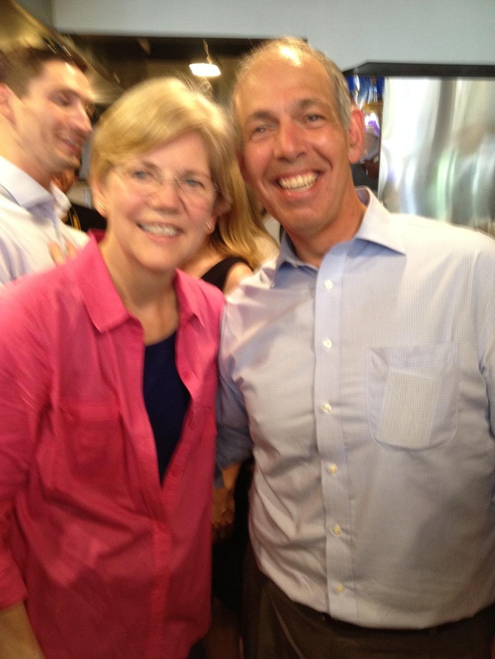 Charles with U.S. Senator Elizabeth Warren