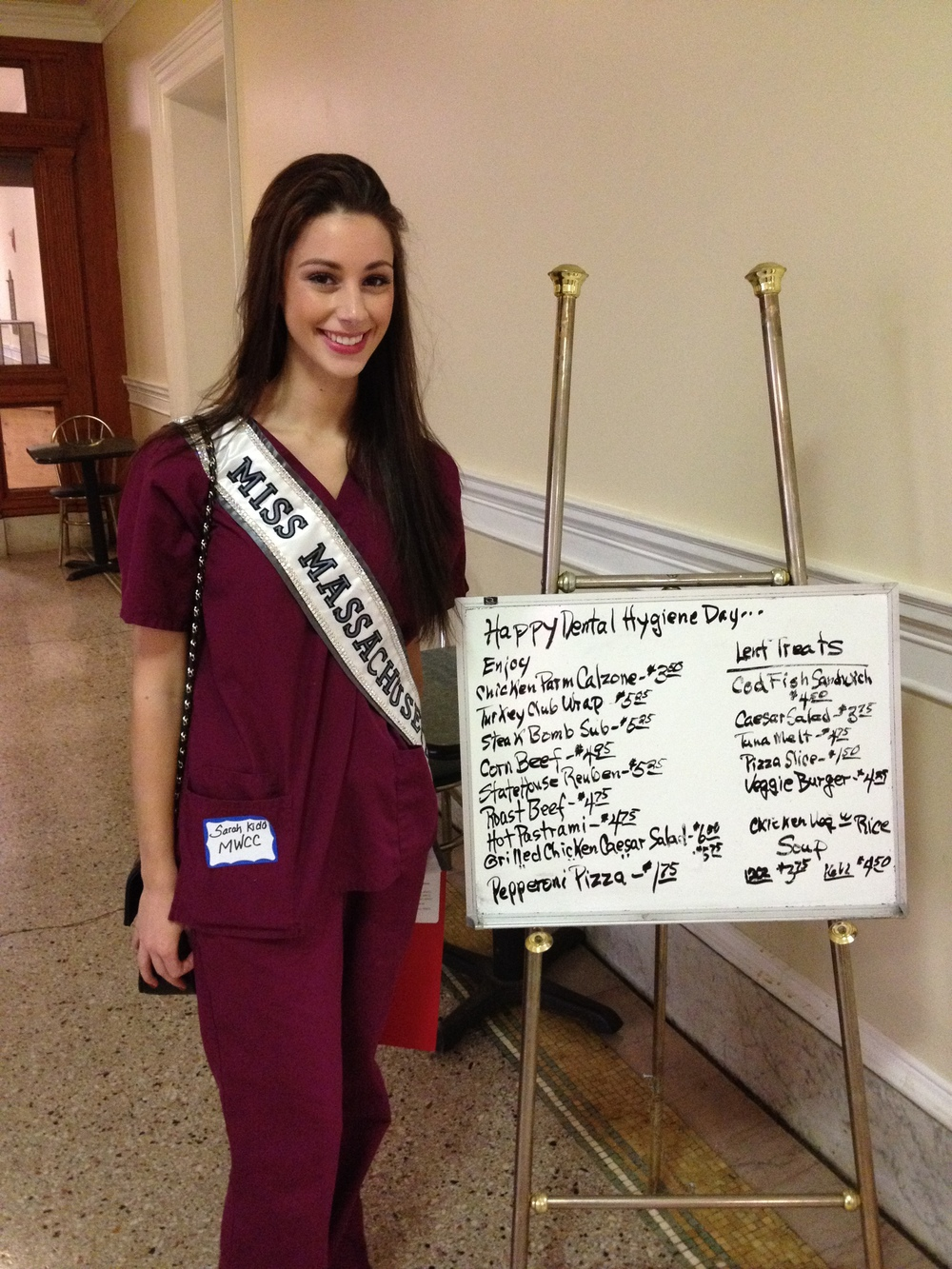 """""""Miss Massachusetts"""" on Dental Hygiene Day at the State House"""