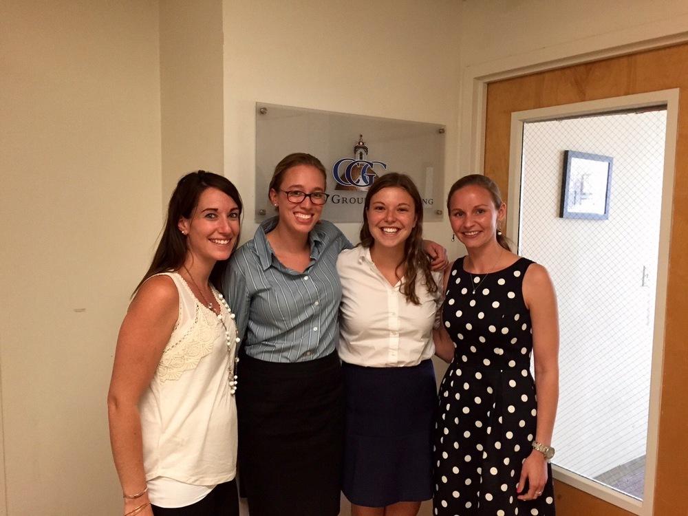 CGC 2015 Summer Interns with Kate