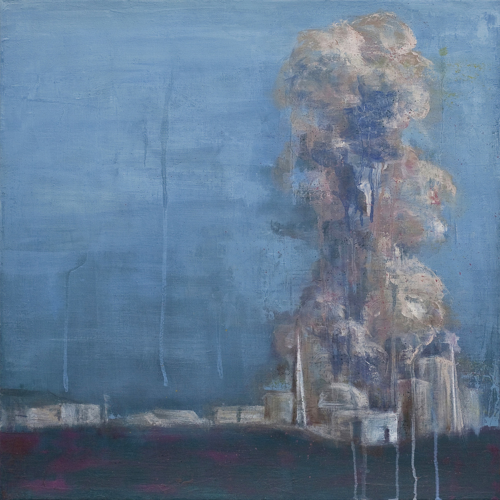 A Recurring Landscape , oil and pencil on linen, 51 x 51 cm, 2012