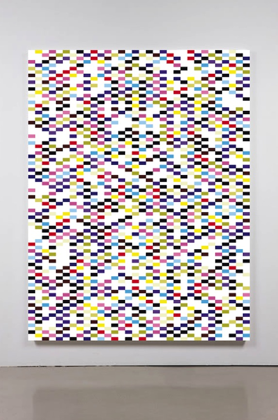 Structered Query Language II     2011 Acrylic on canvas 84 x 62 in/ 213.4 x 157.5 cm