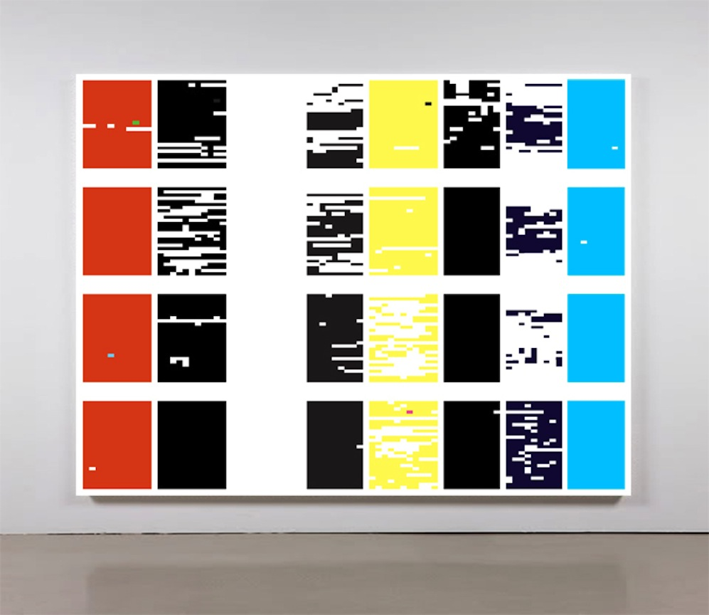 Structured Query Language III   2012 Acrylic on canvas 84 x 109 in/ 213.4 x 276.9 cm