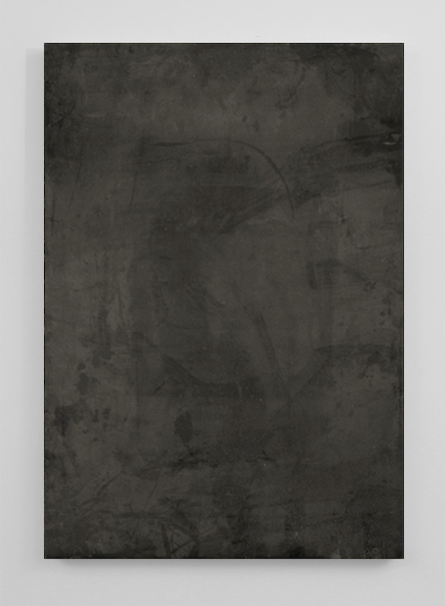 Dust   2014 Acrylic and urethane on aluminum 47 x 33 in/ 111.7 x 83.8 cm