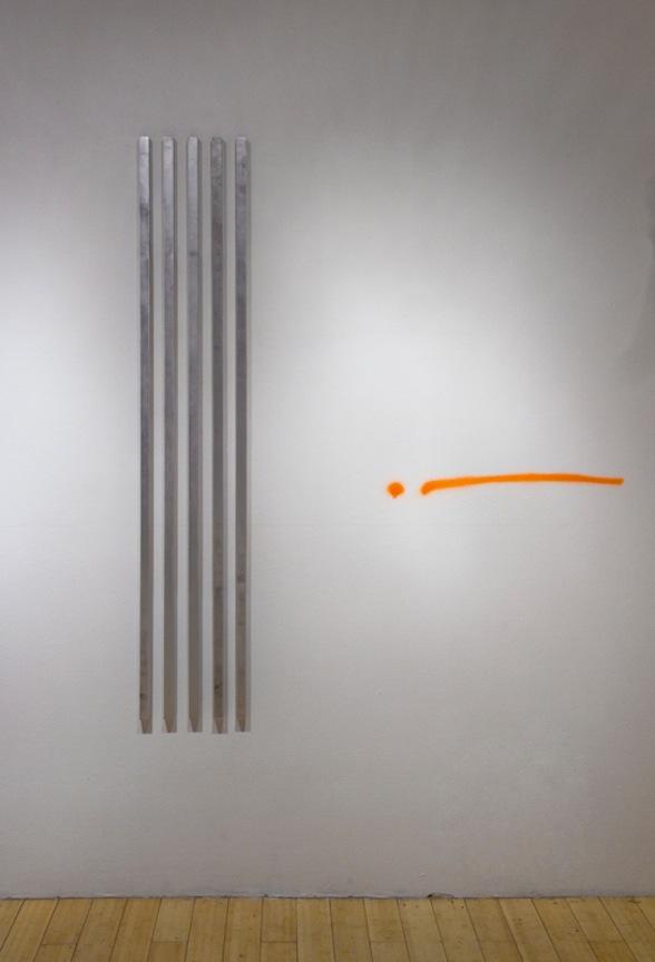 Array v1.1 2013 Aluminum, victory wax, sculpting wax and Sex Wax 62 x 11  ½ x 1 in/ 157.5 x 29.2 x 2.5 cm
