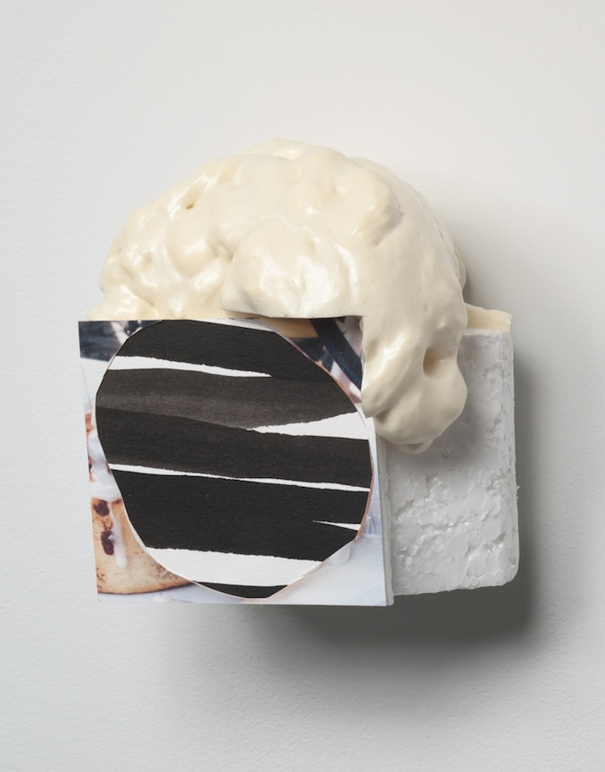 harry goody     2010 Polystyrene, paper, ink, and canned foam  4 3/4 x 5  ½  x 4 in/ 12 x 14 x 10 cm