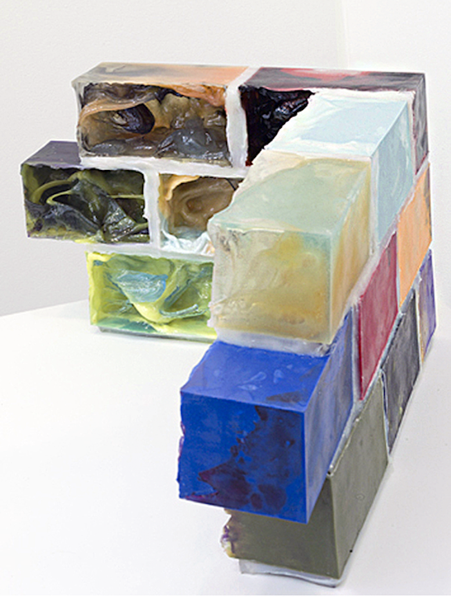Foundation I   2012 Urethane plastic, pigment, silicone and acrylic 18 x 30 x 20 in/ 45.7 x 76.2 x 50.8 cm
