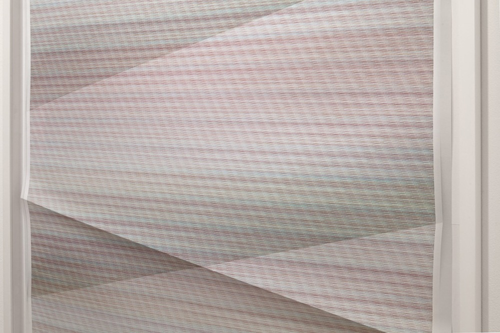 Untitled #125    DETAIL  2012  331,775 combinations of a 2x2 grid, 24 colors  Unique creased archival pigment print  60 x 40 in/ 152.4 x 101.6 cm
