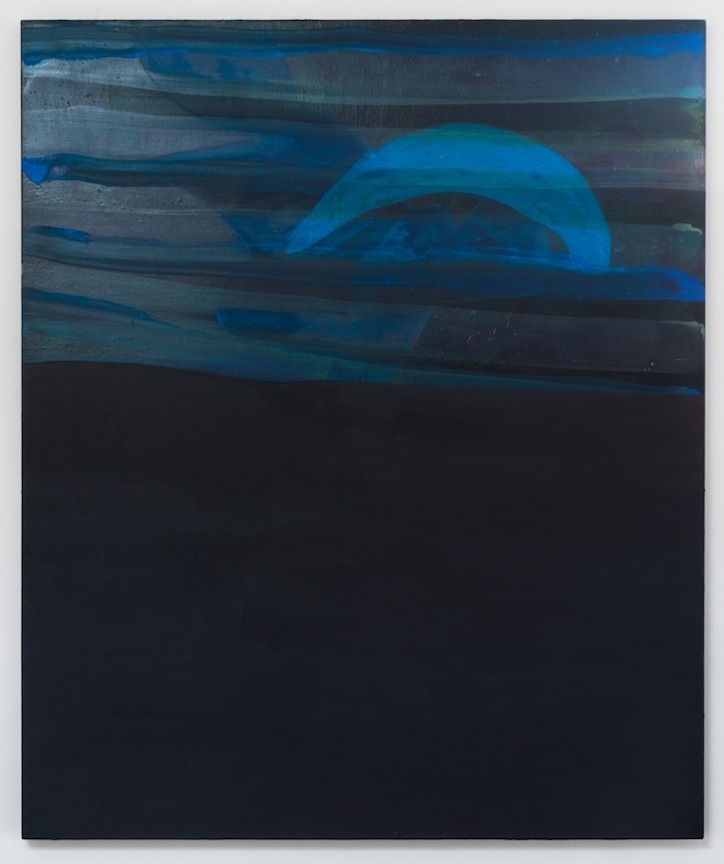 Untitled (Black Resemble Slide)     2011 Acrylic on canvas 48 x 40 in/ 122 x 101.6 cm