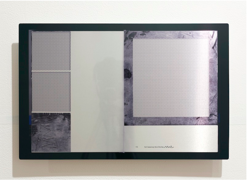but I cannot say this of the line   2014 Aluminum print 10 ¾ x 17 in/ 27.3 x 43.2 cm
