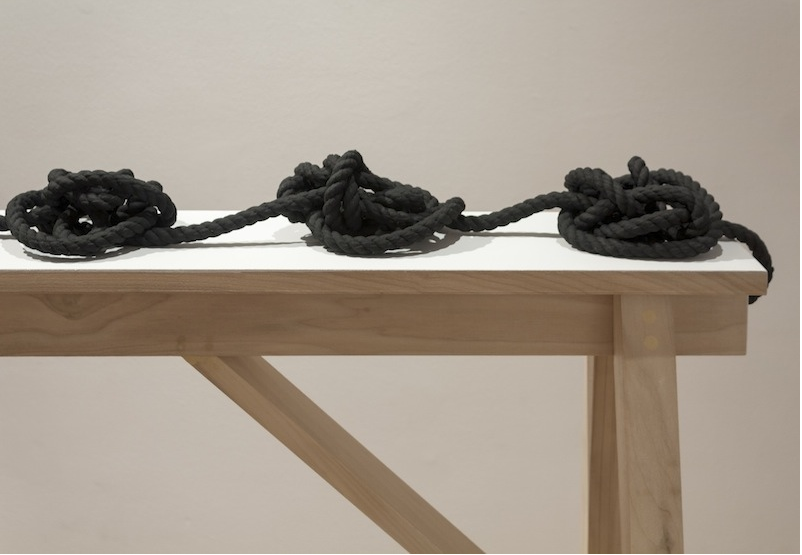I & X Knots  DETAIL  2014 Mixed media 35 ¾ x 72 x 16 ¾ in/ 90.8 x 182.9 x 42.5 cm