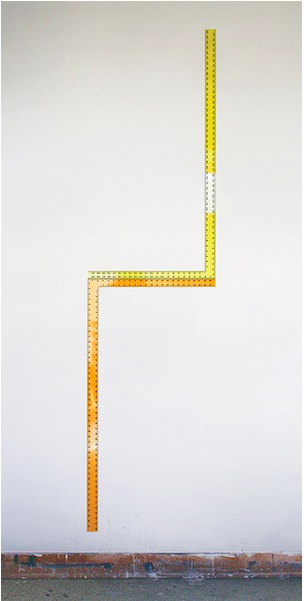 Rulers   2014 Acrylic and urethane on steel 96 x 24 in/ 243.8 x 61 cm