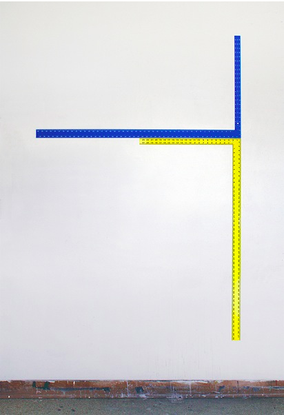 Rulers   2014 Acrylic and urethane on steel 72 x 48 in/ 182.9 x 121.9 cm