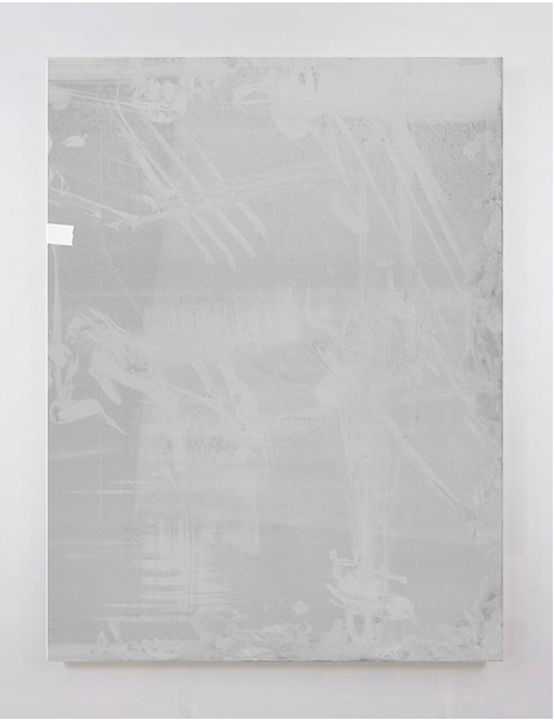 Dust   2014 Acrylic and urethane on aluminum 40 x 30 in/ 101.6 x 76.2 cm