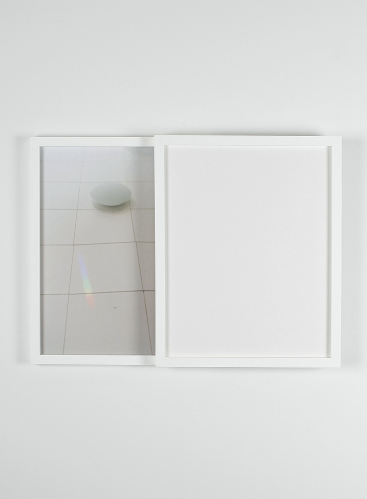 Carey Denniston  To what degree a stone is a stranger / To what degree it is withdrawing, (CLS)  2012 C-prints and custom wood frames 19 x 25  ½  x 2 in/ 48.3 x 64.8 x 5.1 cm