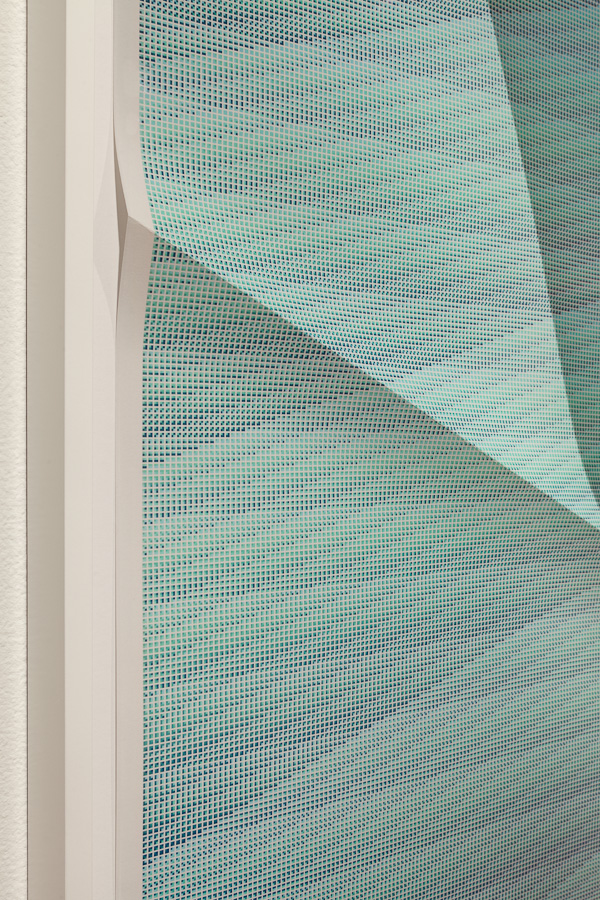 Untitled #71  DETAIL  2012  130,320 combinations of a 2x2 grid, 19 colors  Unique creased archival pigment print  30 x 24 in/ 76.2 x 61 cm