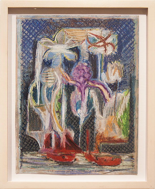 Island Mobile   2012  Gouache and oil pastel  12 x 9 ½ in/ 30.5 x 24.1 cm  FRAMED