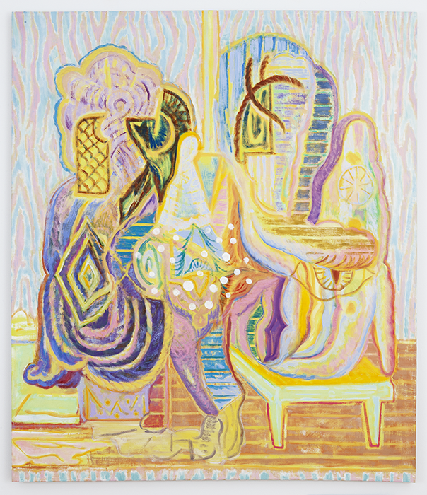 Egyptian Swing   2012  Oil on linen  58 x 50 in/ 147.3 x 127 cm