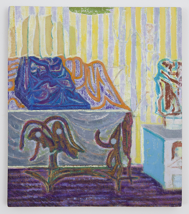 Another World of Interiors   2012  Oil on linen  20 x 18 in/ 50.8 x 45.7 cm