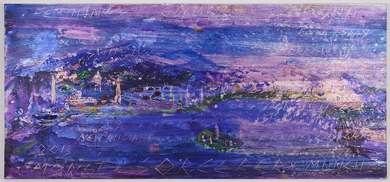 Its OK To Love New England   2012  Acrylic on canvas  42 x 93 in/ 106.7 x 236.2 cm