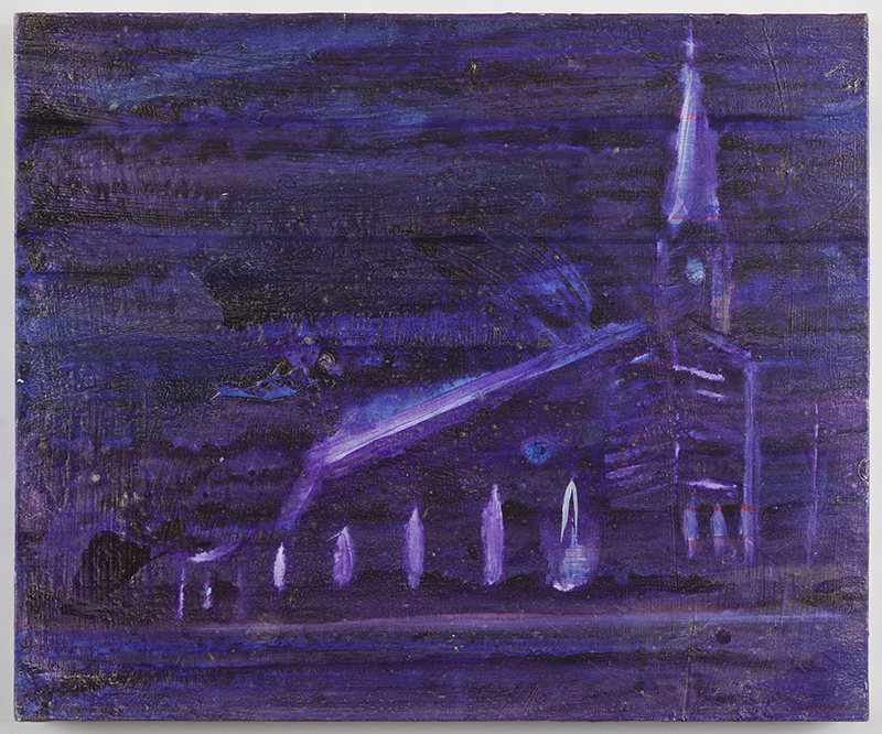 Saint Bridget's Church   2012  Acrylic on canvas  18 x 24 in/ 45.7 x 61 cm