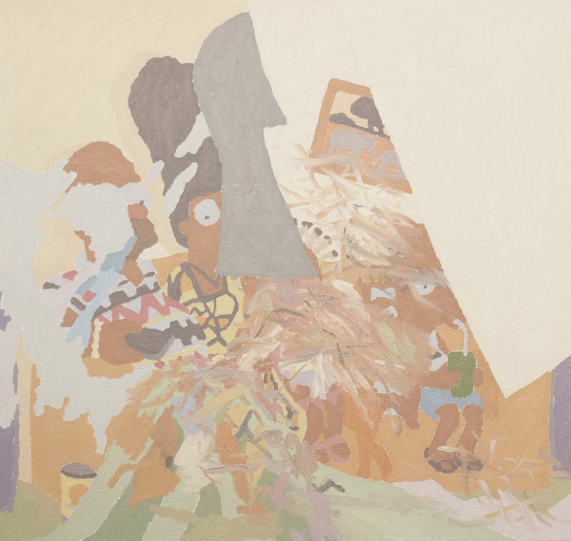 Max Galyon   Simpsons in Angola   2011 Oil on canvas 28 ¾ x 27 ½ in/ 73 x 69.8 cm